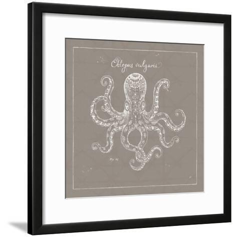 Underwater Life XI Greige-Daphne Brissonnet-Framed Art Print
