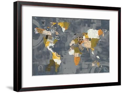 Golden World on Grey-Courtney Prahl-Framed Art Print