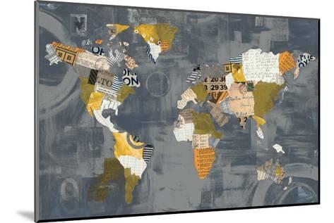 Golden World on Grey-Courtney Prahl-Mounted Art Print