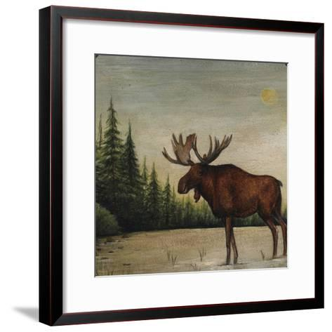 North Woods Moose II-David Cater Brown-Framed Art Print