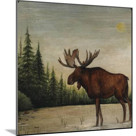 North Woods Moose II-David Cater Brown-Mounted Art Print