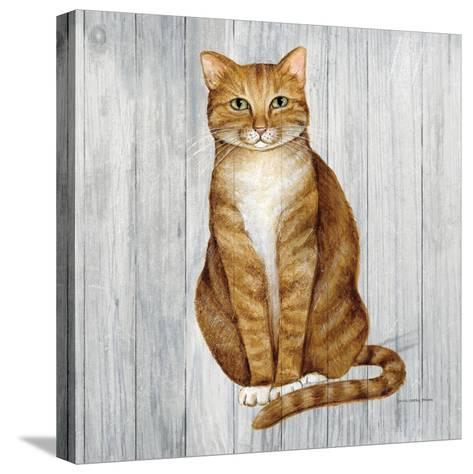 Country Kitty II on Wood-David Cater Brown-Stretched Canvas Print