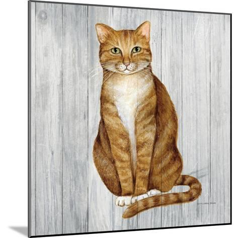 Country Kitty II on Wood-David Cater Brown-Mounted Art Print
