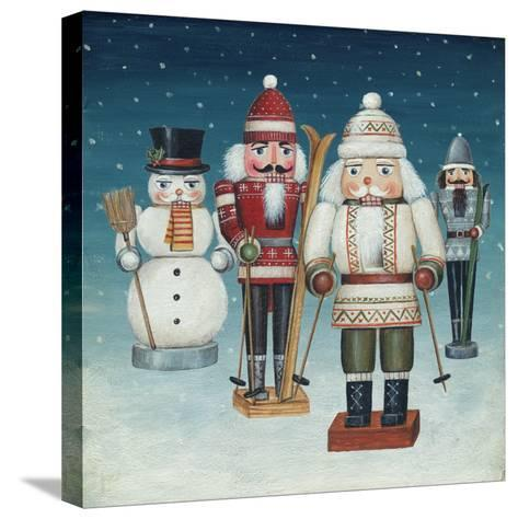 Skier Nutcrackers Snow-David Cater Brown-Stretched Canvas Print