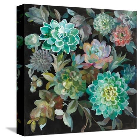 Floral Succulents-Danhui Nai-Stretched Canvas Print