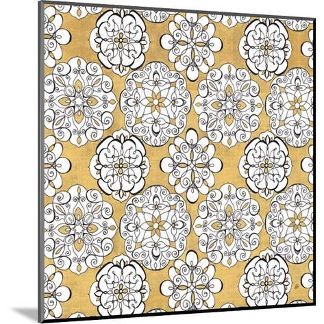 Color my World Kolam Pattern Gold-Daphne Brissonnet-Mounted Art Print