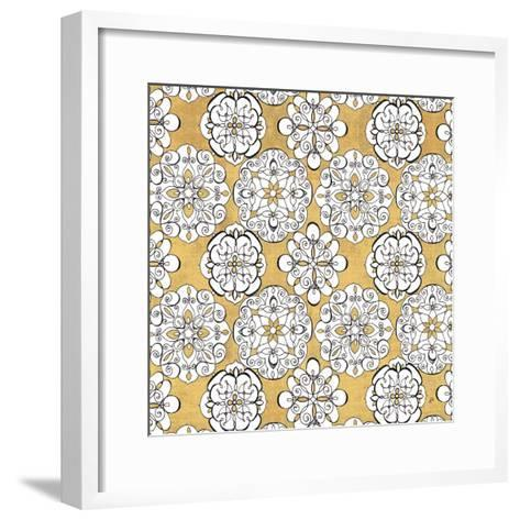 Color my World Kolam Pattern Gold-Daphne Brissonnet-Framed Art Print