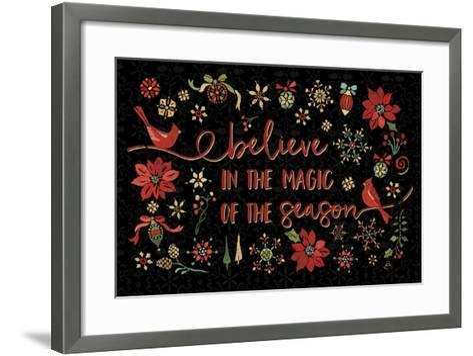 Holiday Impressions II Black-Daphne Brissonnet-Framed Art Print