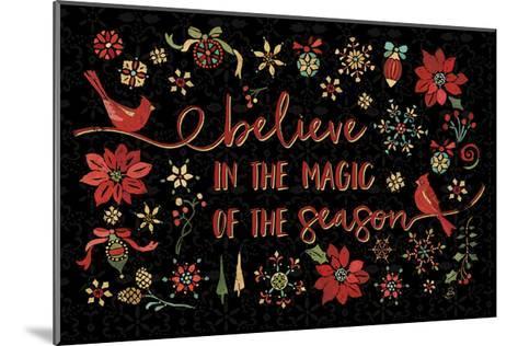 Holiday Impressions II Black-Daphne Brissonnet-Mounted Art Print
