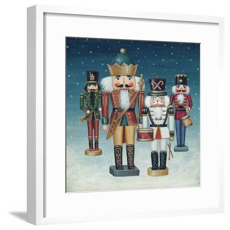 King Nutcrackers Snow-David Cater Brown-Framed Art Print
