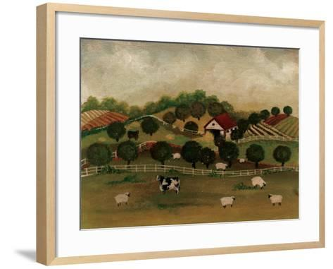 A Day at the Farm II-David Cater Brown-Framed Art Print