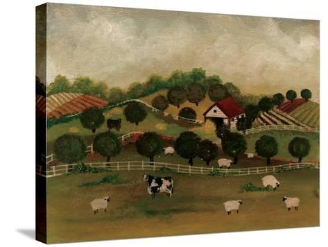 A Day at the Farm II-David Cater Brown-Stretched Canvas Print
