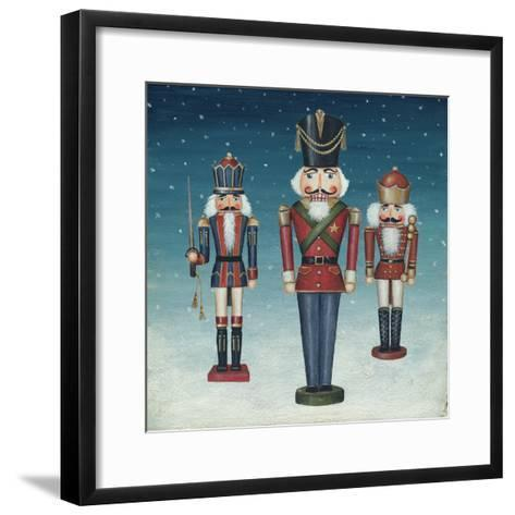 Soldier Nutcrackers Snow-David Cater Brown-Framed Art Print