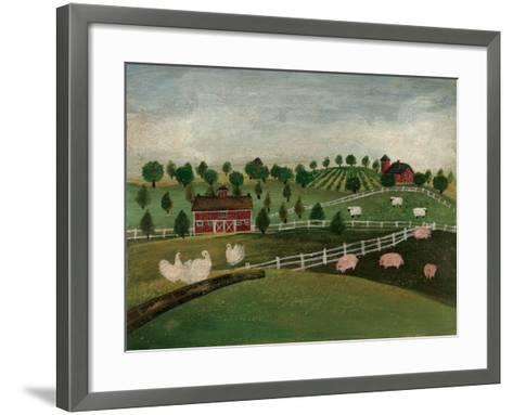 A Day at the Farm I-David Cater Brown-Framed Art Print