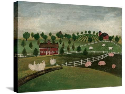 A Day at the Farm I-David Cater Brown-Stretched Canvas Print