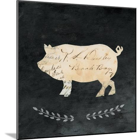 Le Cochon Cameo Sq no Words-Courtney Prahl-Mounted Art Print