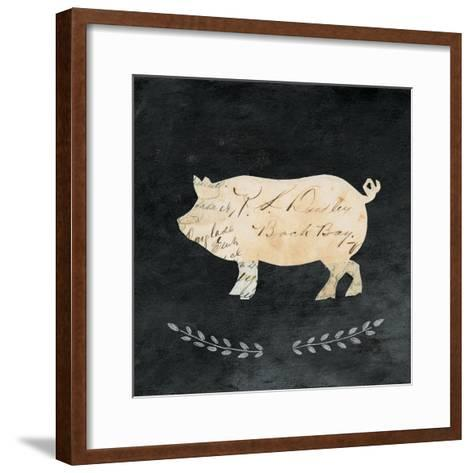 Le Cochon Cameo Sq no Words-Courtney Prahl-Framed Art Print