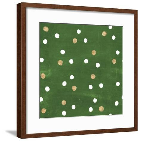 Santas List Pattern IV-Janelle Penner-Framed Art Print