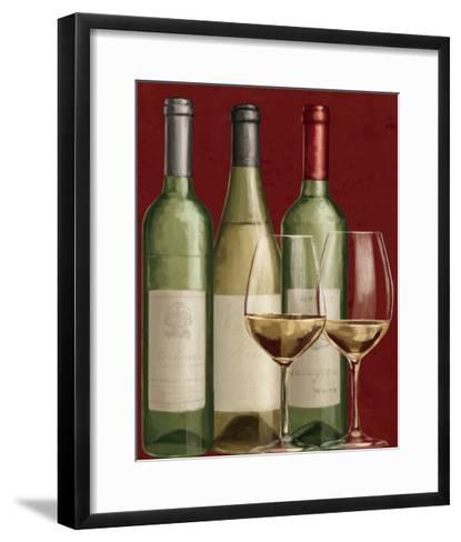 Bistro Paris White Wine-Janelle Penner-Framed Art Print