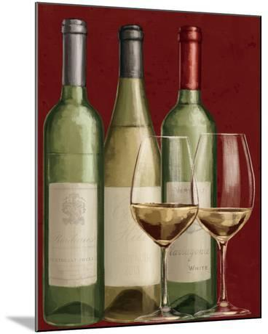 Bistro Paris White Wine-Janelle Penner-Mounted Art Print