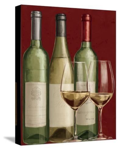 Bistro Paris White Wine-Janelle Penner-Stretched Canvas Print