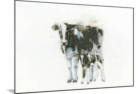 Cow and Calf Light-Emily Adams-Mounted Art Print