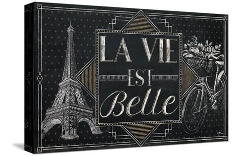 Vive Paris II-Janelle Penner-Stretched Canvas Print