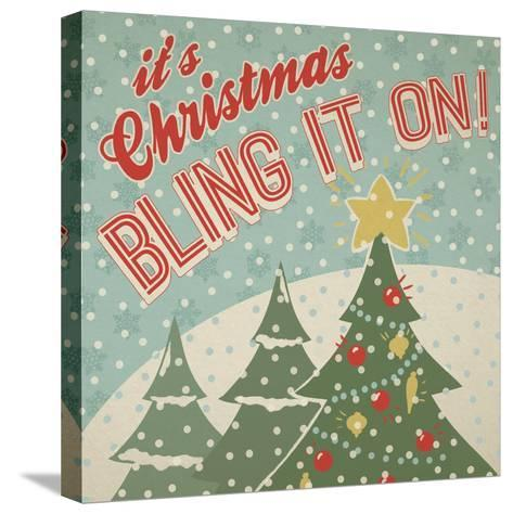 Retro Christmas IX-Janelle Penner-Stretched Canvas Print