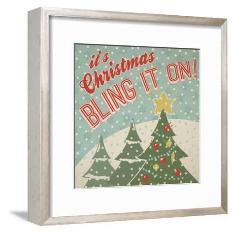Retro Christmas IX-Janelle Penner-Framed Art Print