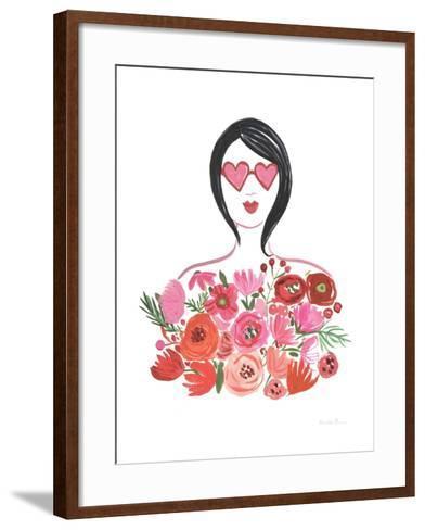 Valentine Chic I no Words-Farida Zaman-Framed Art Print