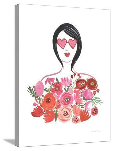 Valentine Chic I no Words-Farida Zaman-Stretched Canvas Print