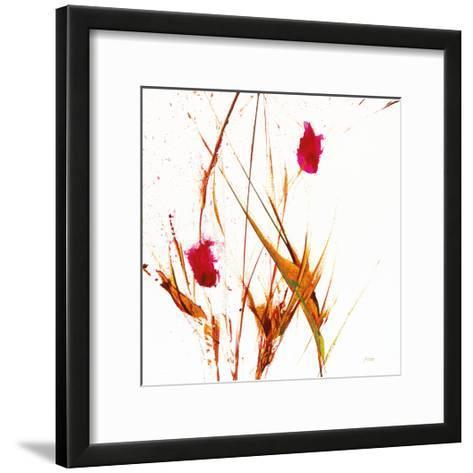 Pink Buds II v2 on White-Jan Griggs-Framed Art Print