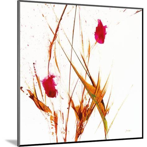 Pink Buds II v2 on White-Jan Griggs-Mounted Art Print