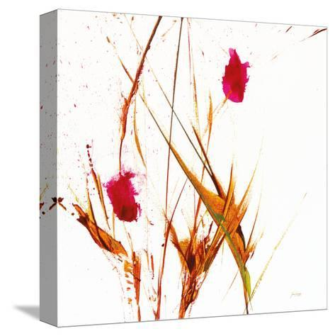 Pink Buds II v2 on White-Jan Griggs-Stretched Canvas Print