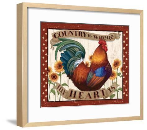 Country Heart I Dots v2-Janelle Penner-Framed Art Print