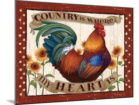 Country Heart I Dots v2-Janelle Penner-Mounted Art Print