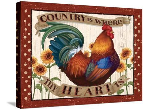 Country Heart I Dots v2-Janelle Penner-Stretched Canvas Print