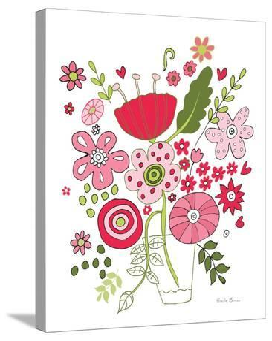 Valentines Flowers IV-Farida Zaman-Stretched Canvas Print