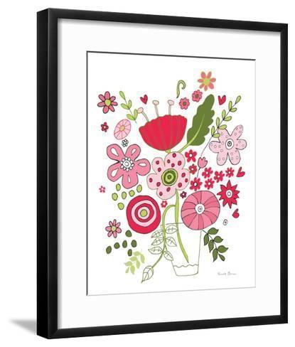Valentines Flowers IV-Farida Zaman-Framed Art Print