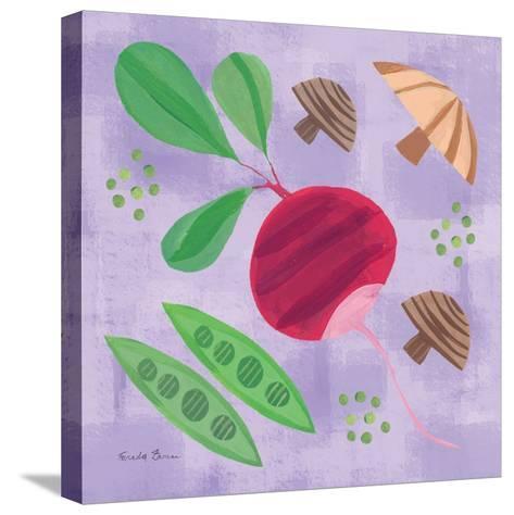 Veggie Time III-Farida Zaman-Stretched Canvas Print