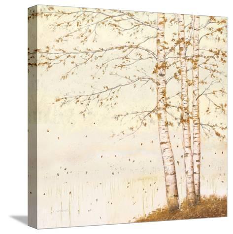 Golden Birch II Off White-James Wiens-Stretched Canvas Print
