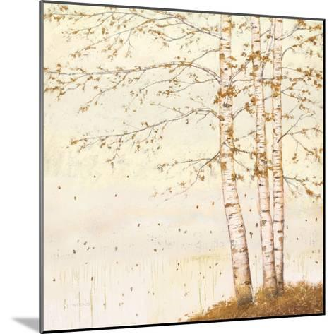 Golden Birch II Off White-James Wiens-Mounted Art Print