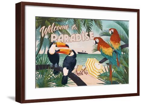 Welcome to Paradise I-Janelle Penner-Framed Art Print