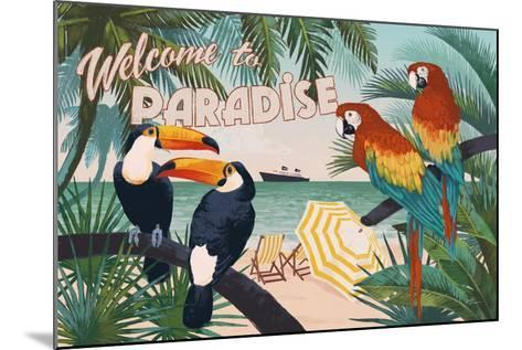 Welcome to Paradise I-Janelle Penner-Mounted Art Print
