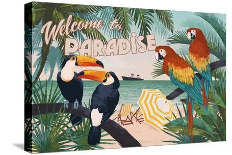 Welcome to Paradise I-Janelle Penner-Stretched Canvas Print