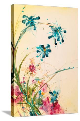 Blooming Blue-Jan Griggs-Stretched Canvas Print