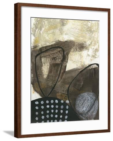 Black and White I-Jane Davies-Framed Art Print