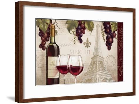 Wine in Paris II-Janelle Penner-Framed Art Print