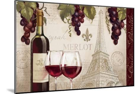 Wine in Paris II-Janelle Penner-Mounted Art Print