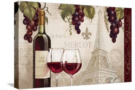 Wine in Paris II-Janelle Penner-Stretched Canvas Print